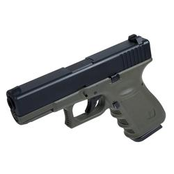 PISTOLA AIRSOFT G23 BLOWBACK 6 MM VERDE TACTICO